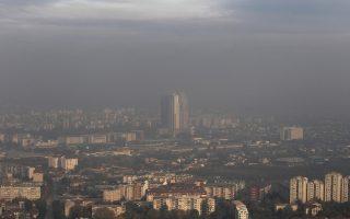 Η πόλη των Σκοπίων δεν μπορεί εύκολα πλέον να «αναπνεύσει».