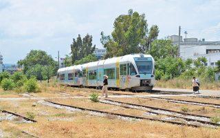 Τα δρομολόγια του προαστιακού σιδηροδρόμου της Πάτρας ξεκινούν από τον σταθμό του Αγίου Ανδρέα (φωτογραφία), μεταφέροντας κάθε μέρα περίπου 5.000 επιβάτες.