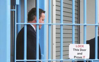 Τις φυλακές του Ράγκμπι στην Κεντρική Αγγλία επισκέφθηκε χθες ο Ντ. Κάμερον.