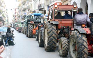 Συλλαλητήριο πραγματοποίησαν χθες το πρωί αγρότες στο κέντρο της Πάτρας.