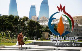 Στο Αζερμπαϊτζάν, το οποίο πριν από 10 χρόνια σημείωνε έναν από τους υψηλότερους ρυθμούς ανάπτυξης στον κόσμο, η αστυνομία κατέστειλε με τη βία μαζικές εκδηλώσεις διαμαρτυρίας, λόγω των οξυμένων οικονομικών προβλημάτων. Στη φωτογραφία, άποψη από την πρωτεύουσα της χώρας, το Μπακού.