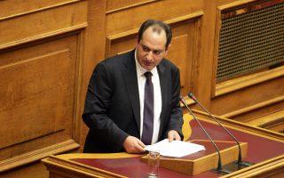 Ο υπουργός Υποδομών, Μεταφορών και Δικτύων Χρ. Σπίρτζης.
