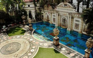 FILE-  This undated photo provided by Casa Casuarina, shows the pool of Casa Casuarina, the mansion once owned by  by Italian designer Gianni Versace, in Miami Beach, Fla. Casa Casuarina is headed for the auction block. Fisher Auction Company will handle the sale of the 23,000 square-foot home. The mansion had previously been listed for $125 million. (AP Photo/Casa Casuarina)