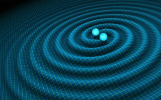 Γραφική αναπαράσταση των δύο μαύρων τρυπών λίγο πριν «σμίξουν», εξαπολύοντας τα ανεπαίσθητα βαρυτικά κύματα που μόλις εντοπίστηκαν.