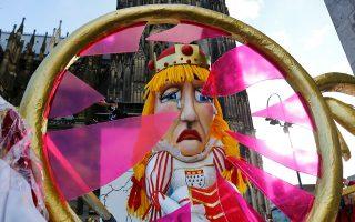Ματαιώθηκαν πολλές εκδηλώσεις του καρναβαλιού στην Κολω- νία λόγω καιρού.