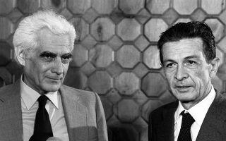 2 Οκτωβρίου 1979. Ο ηγέτης του Κομμουνιστικού Κόμματος της Ιταλίας Ενρίκο Μπερλινγκουέρ (δεξιά) με τον επί μισόν αιώνα ηγέτη του Κομμουνιστικού Κόμματος της Πορτογαλίας, Αλβάρο Κουνιάλ.