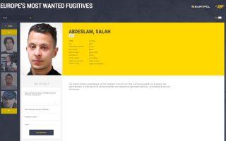 Ο Βέλγος Salah Abdeslam, που κατηγορείται ότι οργάνωσε τις πολύνεκρες επιθέσεις της 13ης Νοεμβρίου στο Παρίσι, μεταξύ των 43 πλέον επικίνδυνων φυγάδων.
