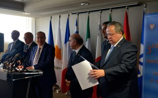 Ο υπουργός Εξωτερικών, Νίκος Κοτζιάς (Δ) παρέστη στην τρίτη υπουργική Σύνοδο της Μεσογειακής ομάδας της Ε.Ε.