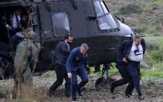 H προσγείωση του Σινούκ του κ. Καμμένου στη Μεσαριά Φωτογραφία: Aegeanews.gr