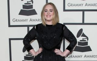 Adele arrives at the 58th Annual Grammy Awards 