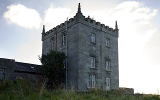 The American-owned bed-and-breakfast Kilcolgan Castle in Kilcolgan, County Galway, Ireland, Oct. 11, 2013. Many overseas buyers and an increasing number of Americans with deep pockets and traceable Irish roots pay cash to buy castles and manor houses at distressed prices. (Paulo Nunes dos Santos/The New York Times)