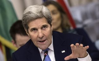 epa05139513 US Secretary of State John Kerry speaks during a meeting, in Rome, Italy, 02 February 2016. Kerry is in Rome for a meeting of the core countries of the US-led military coalition fighting the IS group.  EPA/ANGELO CARCONI