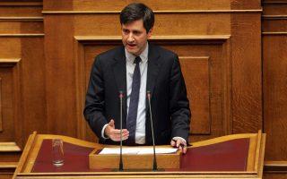 O αναπληρωτής υπουργός Οικονομικών, Γιώργος Χουλιαράκης.