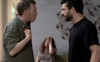 Ο Νίκος Γεωργάκης και ο Γιώργος Χρανιώτης σε ένα στιγμιότυπο της «Καύσης»