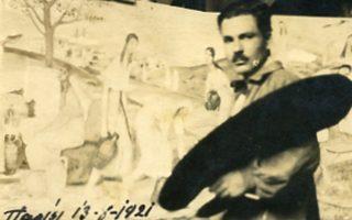 Γιώργος Γουναρόπουλος, στο ατελιέ του στο Παρίσι, 13-8-1921. «Kυκλοφορώ μέσα σε φως τριών διαστάσεων».