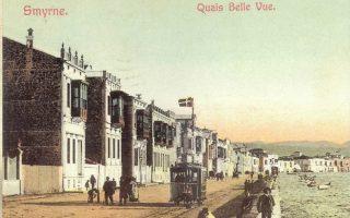 Η Σμύρνη του πολιτισμού με τις μουσικές, το θέατρο, τα καφενεία, τον ειρηνικό περίπατο στο «Quais της ωραίας θέας», στην προκυμαία που το καλοκαίρι του 1922 άλλαξε εικόνα, έγινε ορόσημο... (από το Ημερολόγιο της Ενώσεως Σμυρναίων 1913).
