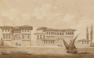 Αποψη της Κωνσταντινούπολης, που αποτελεί το θέμα της έκθεσης.