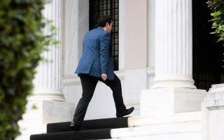 Ο πρωθυπουργός Αλ. Τσίπρας, προσερχόμενος στο Μέγαρο Μαξίμου, όπου συνεδρίασε χθες το Κυβερνητικό Συμβούλιο Προσφυγικής και Μεταναστευτικής Πολιτικής.