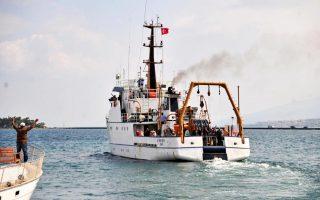 Το τουρκικό πλοίο «Τσεσμέ».