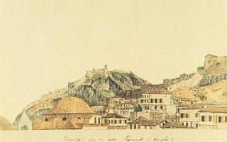 Το Ναύπλιο την εποχή του πρώτου κυβερνήτη Ιωάννη Καποδίστρια (έργο του Πεϊτιέ).