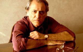 Ο Αμερικανός συγγραφέας Ντον Ντελίλο, ο οποίος εμφανίστηκε την περασμένη Τετάρτη στη Στέγη Γραμμάτων και Τεχνών.