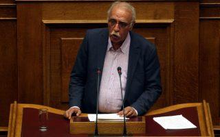 Ο αναπληρωτής υπουργός Εθνικής 'Αμυνας Δημήτρης Βίτσας
