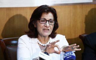 Η αναπληρώτρια υπουργός Κοινωνικής Αλληλεγγύης Θεανώ Φωτίου.