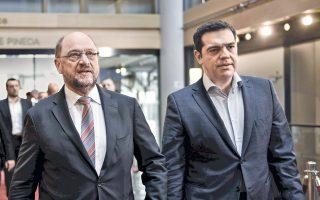 Ο κ. Μάρτιν Σουλτς υποδέχθηκε χθες τον κ. Αλ. Τσίπρα στην έδρα του Ευρωκοινοβουλίου, στο Στρασβούργο.