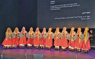 Το Γαϊτάνι, χορός και τραγούδι για το υφαντό που υφαίνει η νύφη, με κλωστές και στολίδια από όλο τον κόσμο, με υπότιτλους, όπως παρουσιάστηκε από το Λύκειο των Ελληνίδων στη Βηρυτό. Η Χορευτική Ομάδα με ενδυμασίες της Νισύρου.