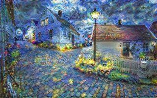Ενα γραφικό δρομάκι μετατρέπεται σε ψηφιακή εκδοχή του καλλιτεχνικού σύμπαντος του Βαν Γκογκ, με τη βοήθεια του «Deep Dream».