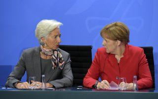 Οχι μόνο δεν προβλέπεται παρέμβαση της κ. Μέρκελ υπέρ των ελληνικών θέσεων, αλλά υπάρχει σύμπλευση με την κ. Λαγκάρντ στο ζήτημα των προληπτικών μέτρων.