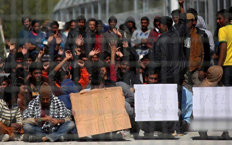 Ιωάννινα: Κλειστή η Εγνατία από καθιστική διαμαρτυρία προσφύγων