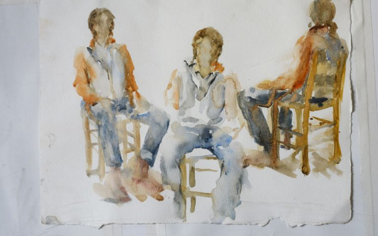 Εκθεση ζωγραφικής της Ιούς Γρανιτσιώτη-Μαθιανάκη