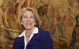Η Κάρεν Ντόνφριντ, πρόεδρος  του German Marshall Fund of the United States.