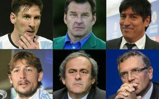 Ο Λιονέλ Μέσι, ο βρετανός γκόλφερ Νίκ Φάλντο, ο χιλιανός πρώην ποδοσφαιριστής Ιβάν Ζαμοράνο, ο αργεντίνος ποδοσφαριστής Γκαμπριελ Χάιντσε, ο Μισέλ Πλατινί και ο Τζερόμ Βάλκε, πρώην Γραμματέας της FIFA. Τα ονόματα όλων εμφανίζονται στα Panama Papers.
