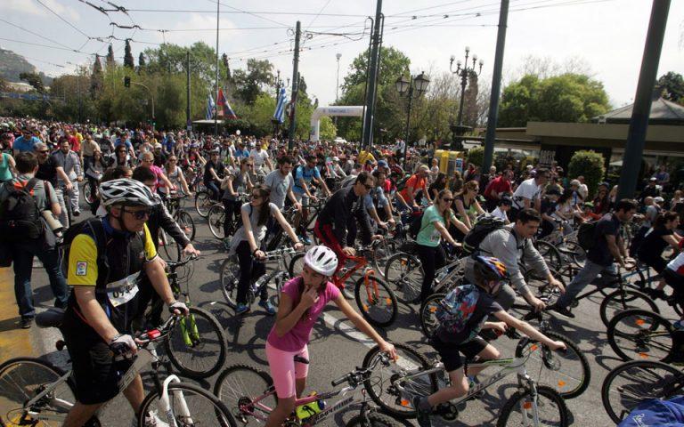 Κυκλοφοριακές ρυθμίσεις για τον 23ο Ποδηλατικό Γύρο της Αθήνας