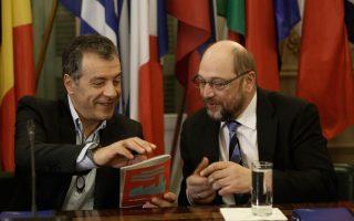 Με τον πρόεδρο του Ευρωπαϊκού Κοινοβουλίου Μάρτιν Σουλτς συναντήθηκε την Τρίτη ο επικεφαλής του Ποταμιού Σταύρος Θεοδωράκης.