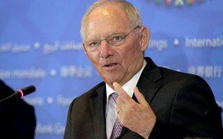 Ο Γερμανός υπουργός Οικονομικών, Βόλφγκανγκ Σόιμπλε, δεν εμφανίσθηκε αρνητικός στο σχέδιο Τσακαλώτου.