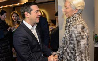 Ο κ. Αλ. Τσίπρας χαιρετά την κ. Κριστίν Λαγκάρντ, γνωρίζοντας ότι τα επιπλέον μέτρα που ζητεί το ΔΝΤ απειλούν τη συνοχή της Κοινοβουλευτικής Ομάδας του ΣΥΡΙΖΑ.