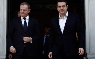 Το τηλεφώνημα του κ. Τσίπρα προς τον κ. Τουσκ και η αρνητική απάντηση του προέδρου του Ευρωπαϊκού Συμβουλίου είχαν καθοριστική σημασία για τις μετέπειτα εξελίξεις.