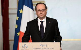 Αρνητικός δηλώνει ο Φρανσουά Ολάντ προς τη Διατλα-ντική Συνεργασία για το Εμπόριο και τις Επενδύσεις.