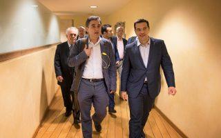 Ο πρωθυπουργός Αλέξης Τσίπρας συγκάλεσε χθες σύσκεψη, με τη συμμετοχή των εμπλεκομένων στη διαπραγμάτευση υπουργών, μεταξύ των οποίων και ο Ευκλείδης Τσακαλώτος.