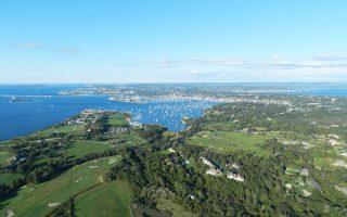Αεροφωτογραφία του Newport, ενός από τα πιο αριστοκρατικά θέρετρα των ΗΠΑ, κοντά στη Βοστώνη.