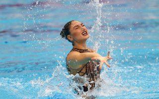 H Eλληνίδα πρωταθλήτρια της συγχρονισμένης κολύμβησης έδειξε ότι βρίσκεται σε άριστη κατάσταση.