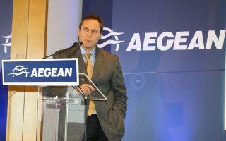 Ο αντιπρόεδρος της Aegean Ευτύχης Βασιλάκης.