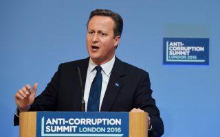 Στο επίκεντρο της πρωτοβουλίας του Βρετανού πρωθυπουργού Ντέιβιντ Κάμερον (φωτ.) βρίσκεται το «ξέπλυμα» χρήματος μέσω της αγοράς ακινήτων του Λονδίνου.