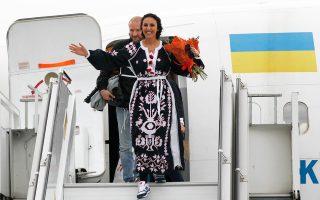 Η Τζαμάλα επιστρέφει θριαμβεύτρια στο Κίεβο.