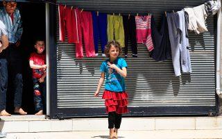 Παιδιά Σύρων προσφύγων στο Γκαζιαντέπ, στη ΝΑ Τουρκία.