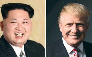 Μακάρι να πραγματοποιηθεί κάποτε η συνάντηση των δυο τους, όπως δήλωσε ότι θα ήταν διατεθειμένος ο Τραμπ, αν εκλεγεί. Ακόμη και αν δεν ανταλλάξουν μια κουβέντα, θα είναι μοναδική στιγμή στην παγκόσμια Ιστορία, καθώς ποτέ άλλοτε δεν θα έχει γίνει συνάντηση ηγετών με τόσο γελοία χτενίσματα. (Για την ακρίβεια, δηλαδή, πρέπει να έγιναν πάμπολλες τέτοιες περί τα μέσα του 17ου αιώνα, όταν ήταν της μόδας οι φουντωτές περούκες με βοστρύχους που έπεφταν μέχρι τους ώμους...)