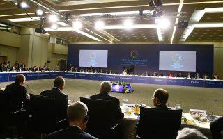 Στιγμιότυπο από τη Διεθνή Ανθρωπιστική Διάσκεψη Κορυφής, στην Κωνσταντινούπολη.